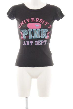 Pink Victoria's Secret T-Shirt Schriftzug gedruckt Casual-Look