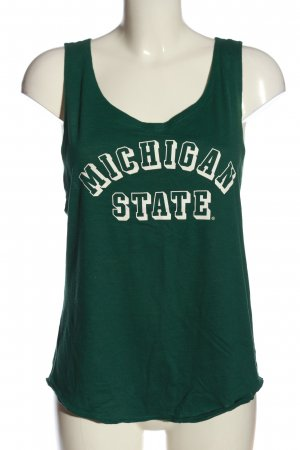 Pink Victoria's Secret Tank Top green printed lettering casual look