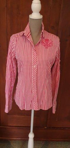Pink/weisse Sansibar Bluse mit Stickerei Gr. M