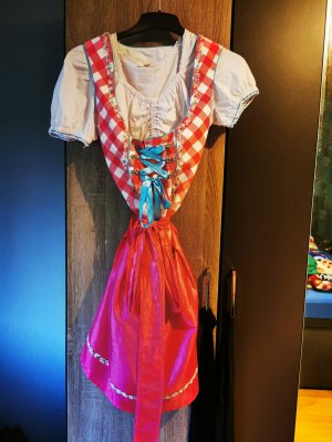 Stockerpoint Dirndl wit-roze