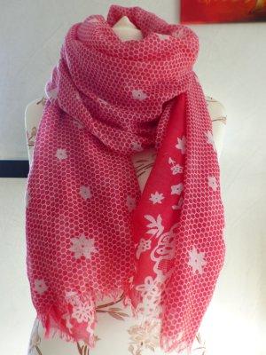 pink weißes Tuch / Schal