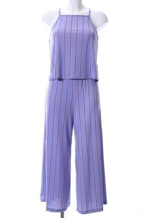 Pink Jersey Twin Set blau-braun Streifenmuster Elegant