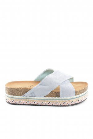 Platform Sandals light grey-cream graphic pattern casual look
