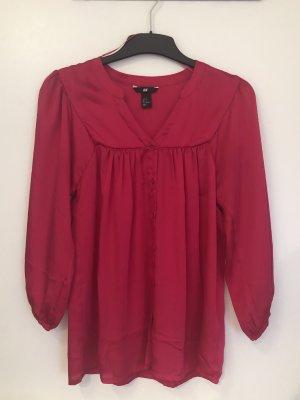 Pinke 3/4-Bluse