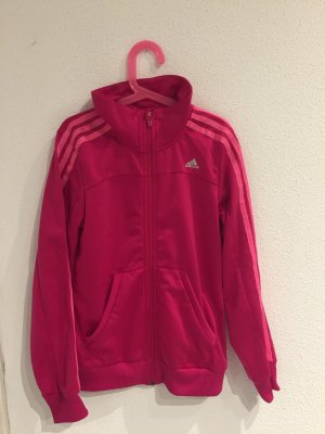 Adidas Giacca sport rosso lampone