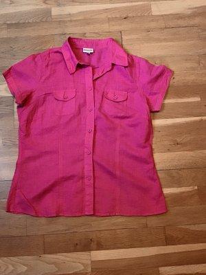 Pinke Bluse aus Leinen