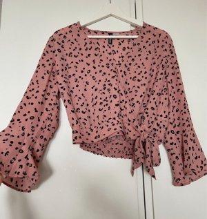 H&M Wikkelblouse roze-zwart