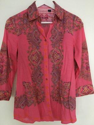 Pinke Bluse mit tollen Stickereien