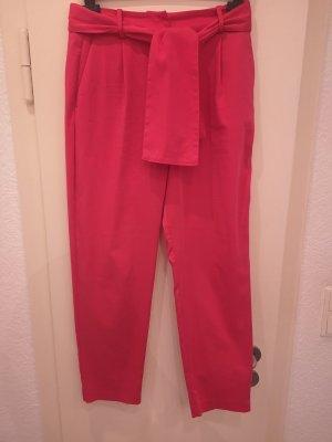 Zara Pantalón de pinza alto rosa