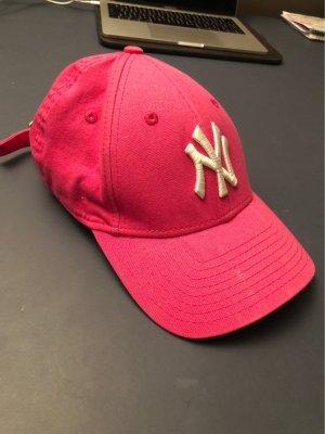 NY Yankees Gorra de béisbol blanco-rosa