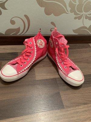 Krüger Dirndl Lace Shoes pink-neon pink