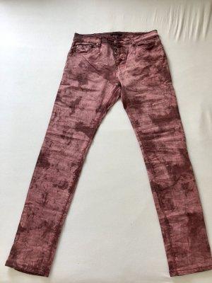 place du jour Pantalon taille basse multicolore coton