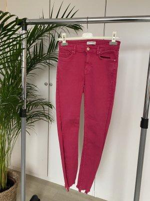 Zara Premium 3/4 Length Jeans pink-magenta