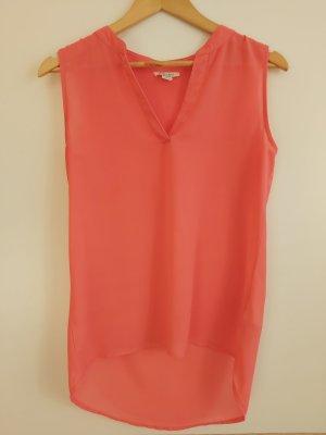 Pinke kurzärmelige Bluse