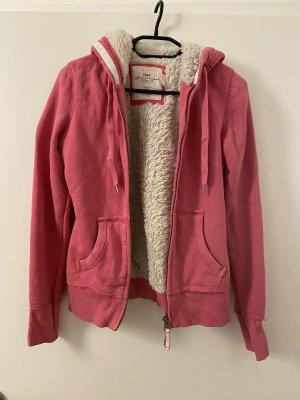 Capuchon vest roze