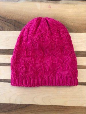 H&M Chapeau en tricot magenta