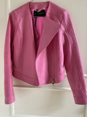 Pinke Lederjacke von Versace
