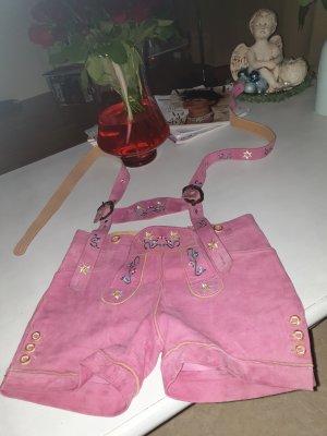Pinke Ledershorts in Größe S