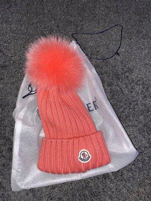 Moncler Chapeau en fourrure rose