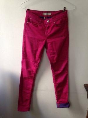 Pinke skinny Jeans Topshop Moto Leigh W26 L28 Petit XS