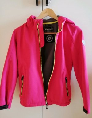 Killtec Softshell Jacket pink-neon yellow