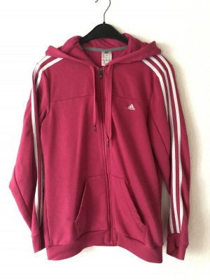 Adidas Capuchon vest wit-roze