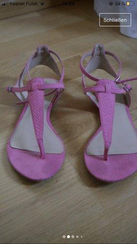 Zara Sandały japonki z rzemykami różowy-różowy