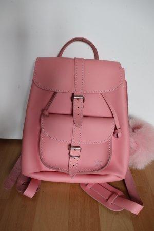 Pinker Mini Lederrucksack