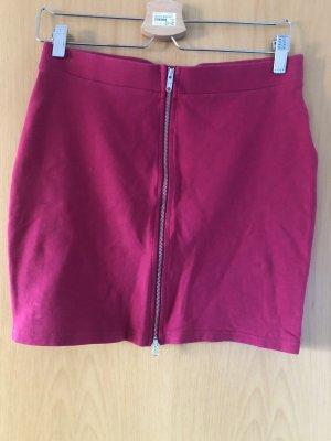 Pinker Minirock mit Reißverschluss