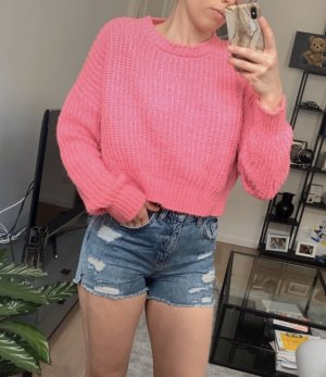 pinker oversized Strickpullover von Urban Outfitters