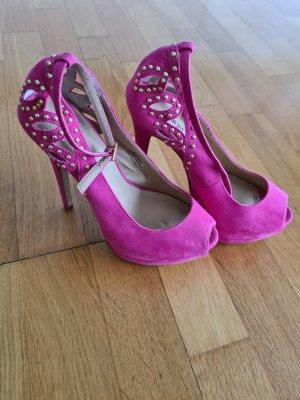 pinker Plateau high heel