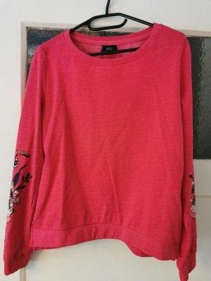 pinker pullover von only