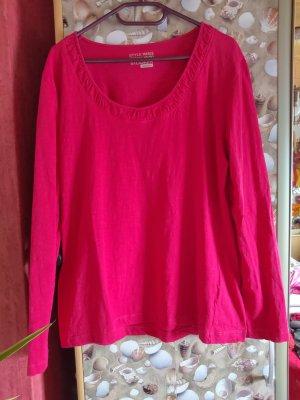 Pinker Rundhals-Pullover