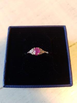 Pinker Saphir Silber Ring
