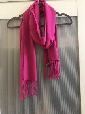 Esmara Bufanda de flecos rosa