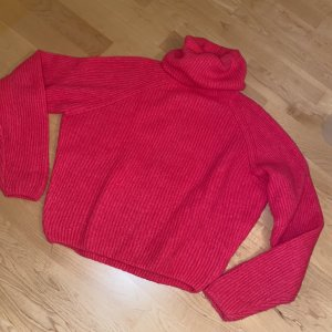 Subdued Knitted Sweater pink-neon pink