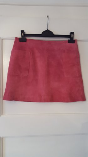 Leather Skirt pink suede