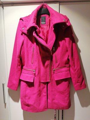 Laura Scott Abrigo de lana rosa-magenta