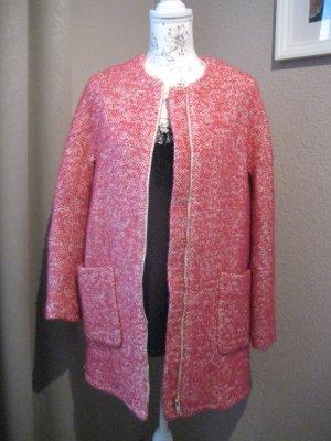 Pinker Wollmantel von Zara