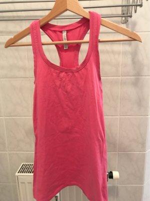 Pinkes Basicshirt ärmellos