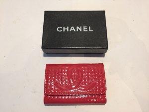 Chanel Etui voor sleutels magenta Leer
