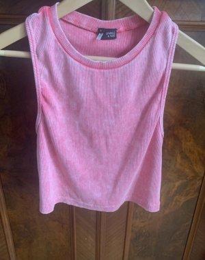Urban Outfitters Top recortado rosa neón