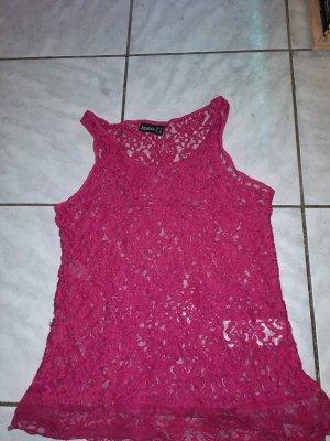 pinkes durchsichtiges shirt