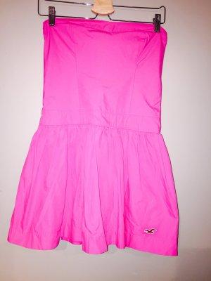 Hollister Sukienka z dekoltem typu bandeau różowy