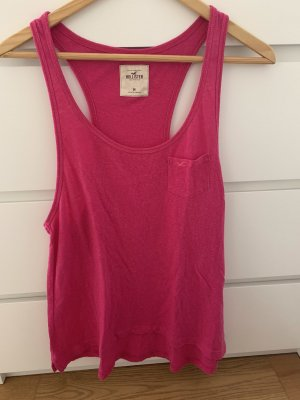 Hollister Canotta fitness magenta-rosso lampone