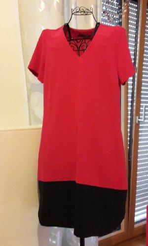 Pinkes Kleid, blauer Abschluss, Marks&Spencer, Gr. 42 / 44