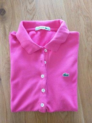 Pinkes Lacoste Poloshirt