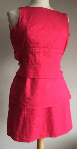 Robe fourreau rouge framboise-rose