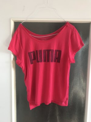 Pinkes Puma T-Shirt, Größe L (40)!