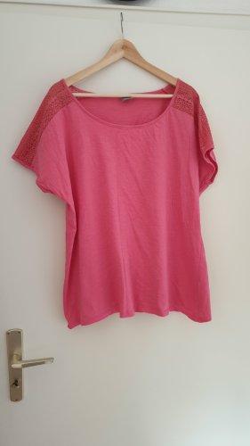 Giada T-shirt rosso chiaro Cotone